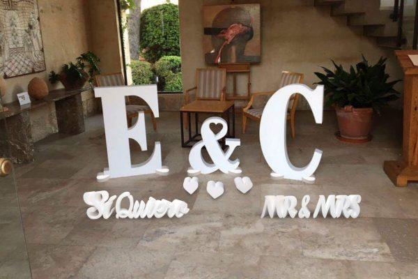 letras corcho para matrimonios