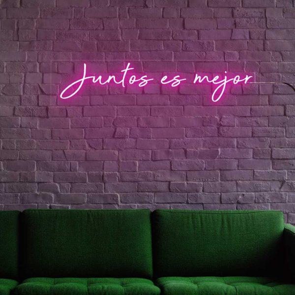 Junto es mejor neones